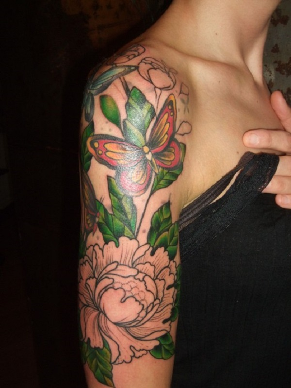 Simple Upper Arm Tattoos For Females