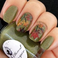 Autumn Leaf Nails | www.imgkid.com - The Image Kid Has It!