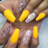 40 Yellow Nail Art Ideas - nenuno creative