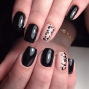 black nail art design - nenuno