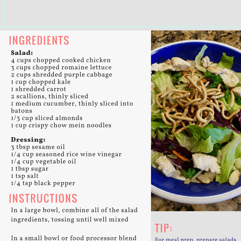Meal Prep Monday: Asian Chicken Salad