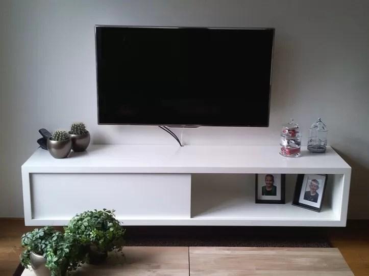 Werktekening TVmeubel zwevend zelf maken in hout of mdf