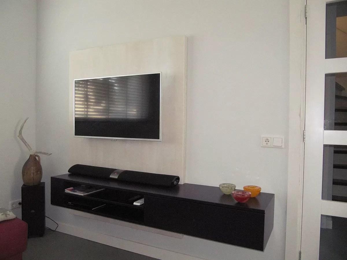 Bouwtekening TV kast zelf een hangend tvmeubel maken