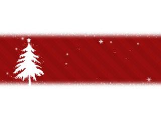 クリスマス風 モミの木と雪の結晶(28パターン)