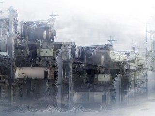 壊滅した都市 差分:靄/スモッグ/夜