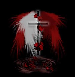 透明感のある十字架と翼(5パターン)