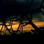 フェンス越しの薄暮