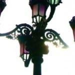 カラフルな街灯の写真素材