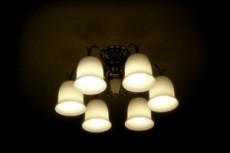 レトロな照明の写真素材