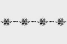 シックな飾り罫の壁紙(4パターン)