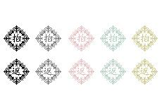 漢字1文字のweb拍手ボタン(透過GIF)(9パターン)