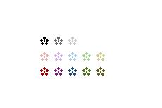 小梅のシンプルなアイコン(透過GIF)(14パターン)