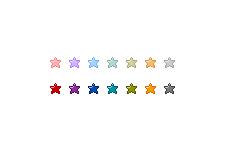 コロコロ転がる星のアイコン(GIFアニメ)(透過GIF)(14パターン)