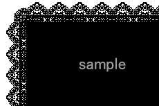 レースのような飾り枠(4パターン)
