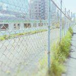【高解像度】フェンス越しの山手線