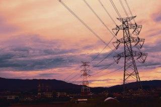 【高解像度】鉄塔と送電線のある風景(3パターン)