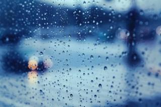 【高解像度】雨にぼやけたヘッドライト(3パターン)