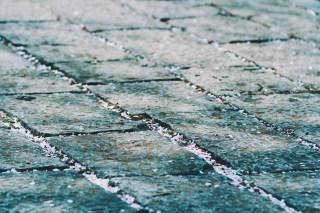 【高解像度】石畳に散る桜(サクラ)(3パターン)