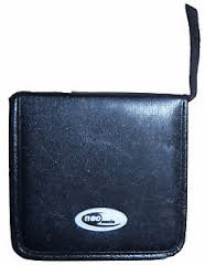 NEO LEATHER 48 CD DVD CARRY CASE MEDIA