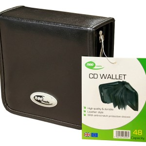 neo leather 48 cd dvd carry case
