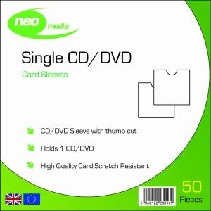 NEO MEDIA CD DVD CARD SLEEVE THUMB CUT