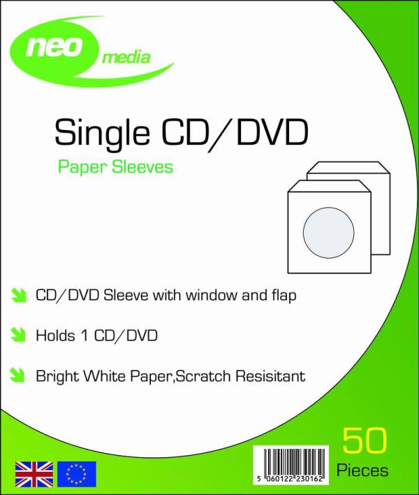 CD DVD PAPER SLEEVES FOR DISCS