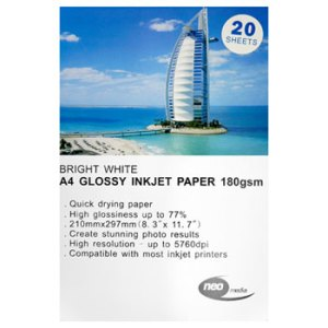 180 gsm a4 glossy paper by neo media