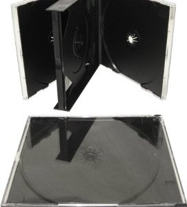 CD Jewel Case Triple 3 Way Black Tray-16