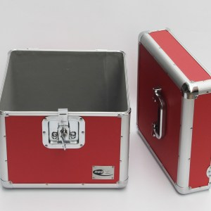 DJ FLIGHT CASE FOR RECORDS RED