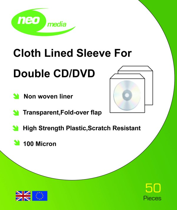 neo media safety sleeve cloth 2 discs