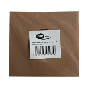 "7"" 350gsm brown card lp jacket with hole"