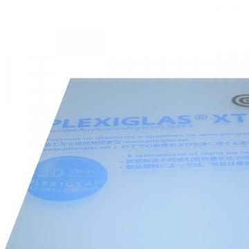 plaque carree 250mm en pmma transparent