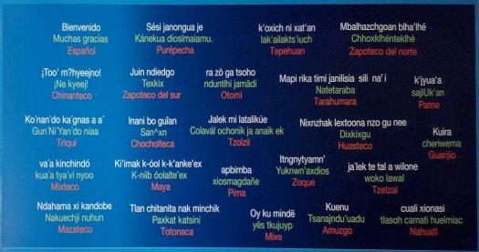 Bienvenido y muchas gracias en lenguas indígenas de México