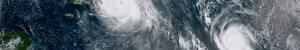 satellite photo of hurricanes irma and jose