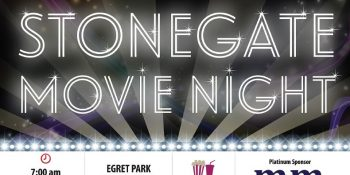 Michael Mei Real Estate Stonegate Community Summer Movie Night Post Card-Front side_ Neo Design Concepts Print Marketing Graphic Design