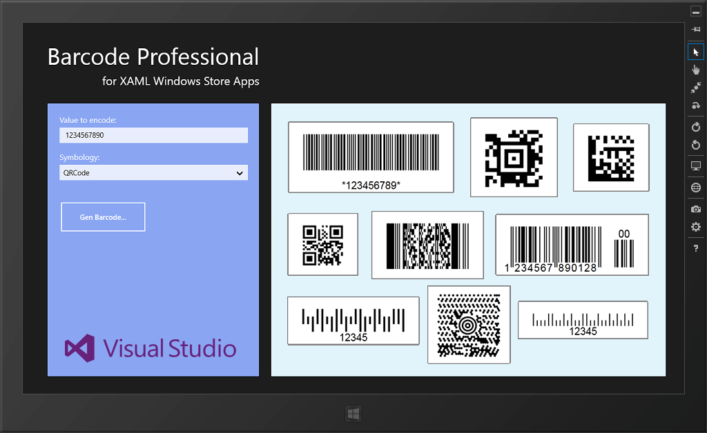 Barcode Pro for XAML WinRT (Windows Store Apps)