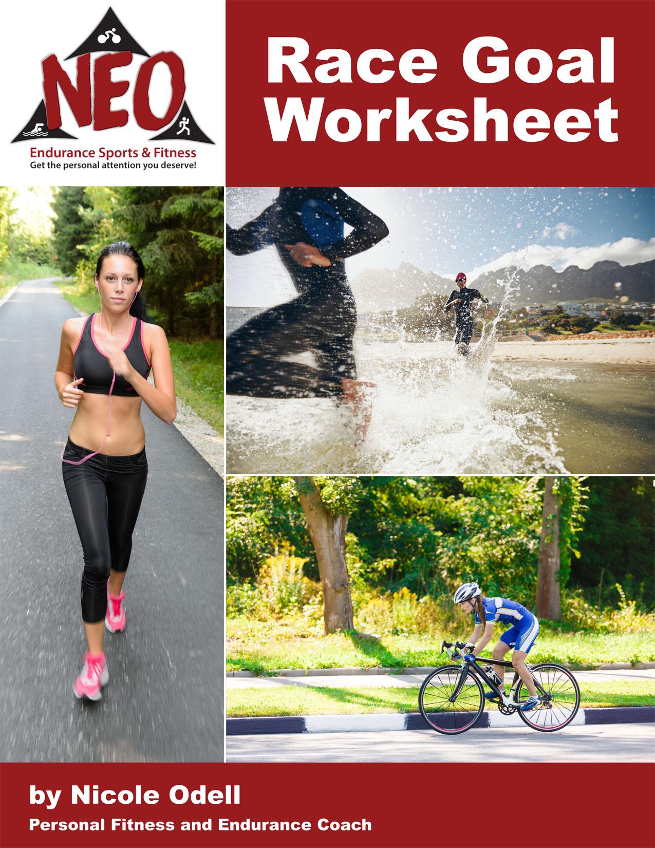 Race Goal Worksheet Cover