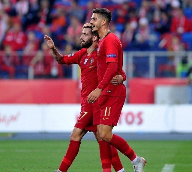 El delantero luso del Sevilla FC, André Silva, en el encuentro con su selección ante Polonia. Imagen SevillaFC.es