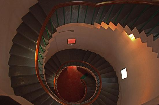 spiral staircase at-kannur lighthouse