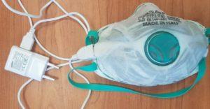 Telefontöltővel fertőtleníthető szájmaszk is van már