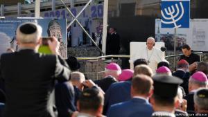 Ferenc pápa a szlovákiai zsidó közösség vezetőivel is találkozott