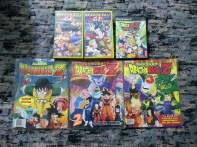 VHS Mangafilms Dragon Ball GT 12 y 15, DBZ Budokai Tenkaichi 3 (PS2), Album DBZ 1, 2 y 3