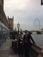 Dr. Chuen Wai Lee presenting her work at Houses of Parliament