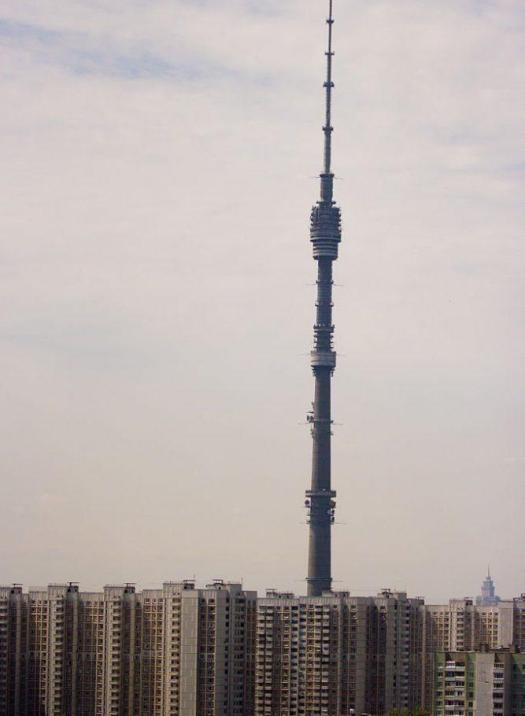 540.1 meters (1,772 ft). Opened in 1967, it's a TV and radio pinnacle in capital of the Russian Federation. it's at this time the tallest detached structure in Europe and seventh tallest on the world. the head was the most unsupported structure to surpass five hundred m (1,600 ft) in stature.