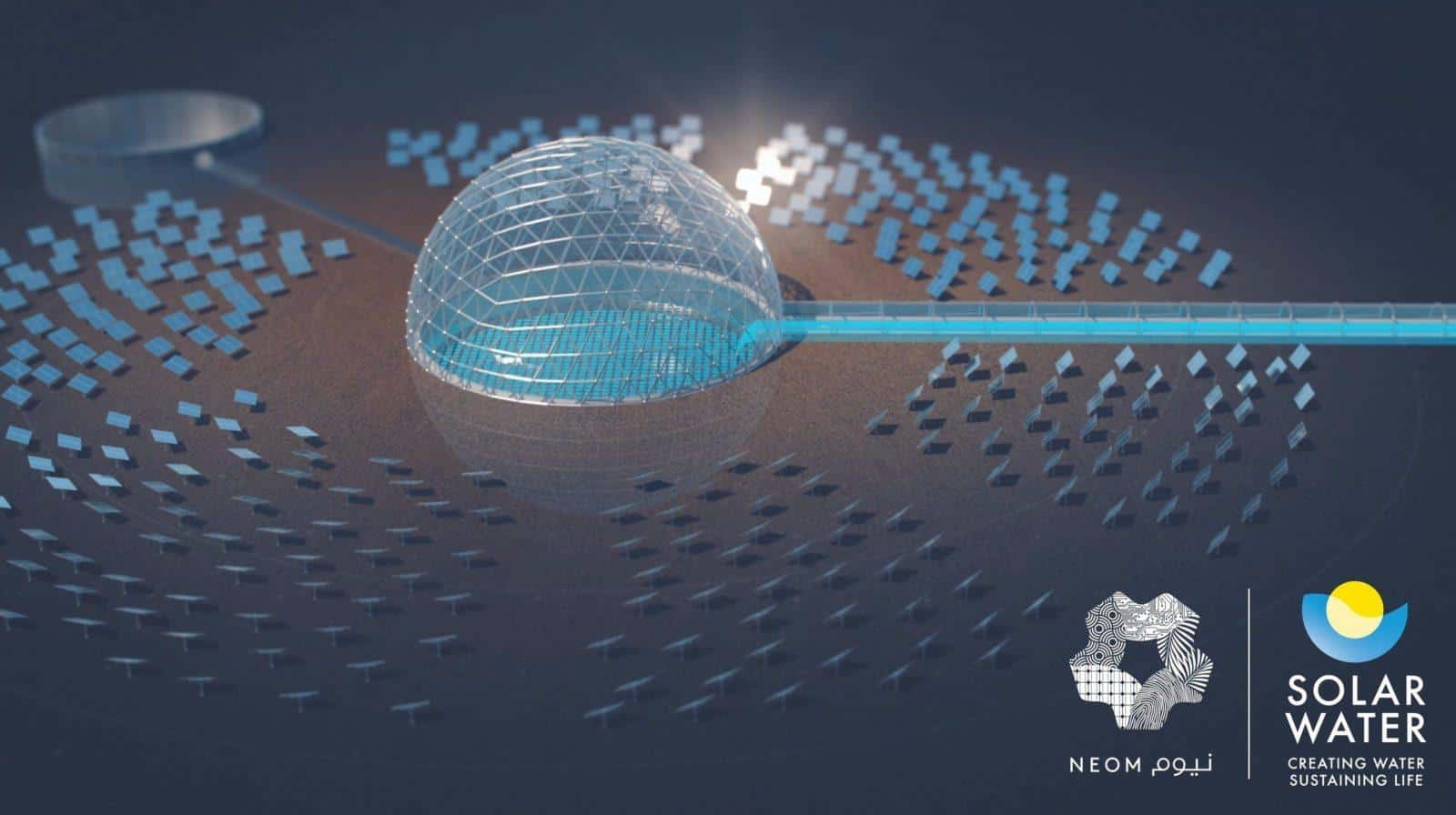 NEOM solar dome technology for water desalination project