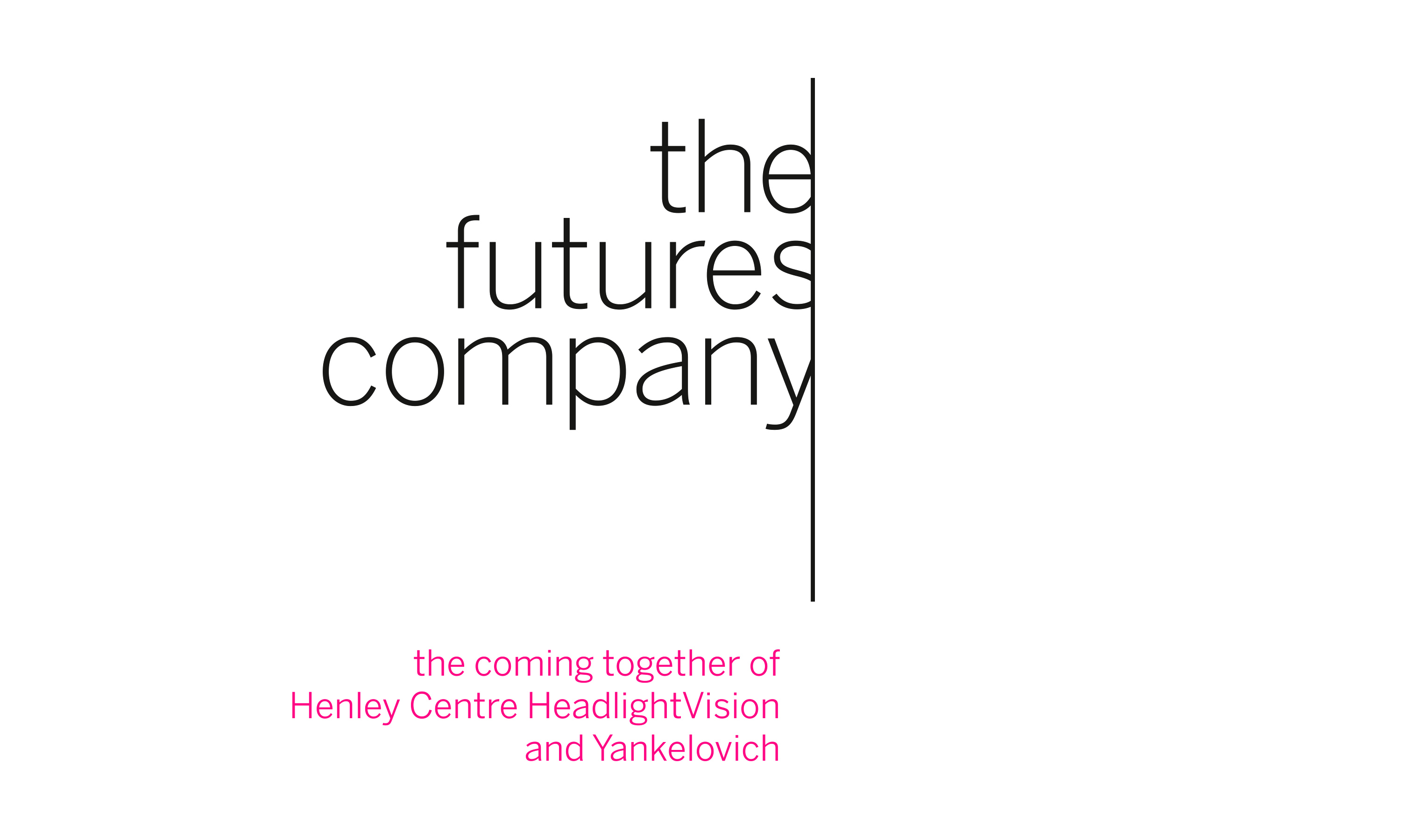 The Futures Company brand identity by Neon