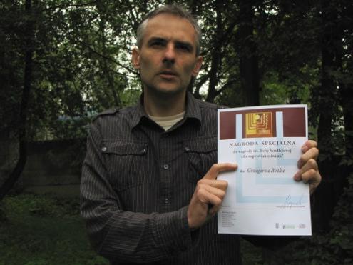 Grzegorz Bożek z wyróznieniem