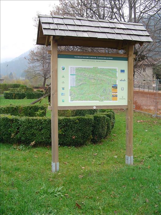 BACHECA IN LEGNO - tabella segnaletica parco