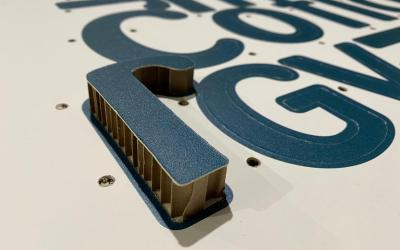 Insegna in Cartone alveolare  Autoportante per eventi 3D ECOCOMPATIBILE