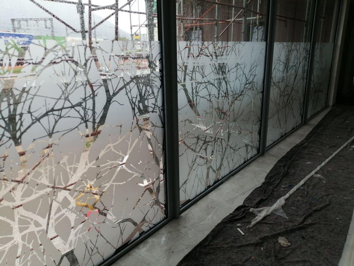 adesivi prespaziati effetto vetro sabbiato